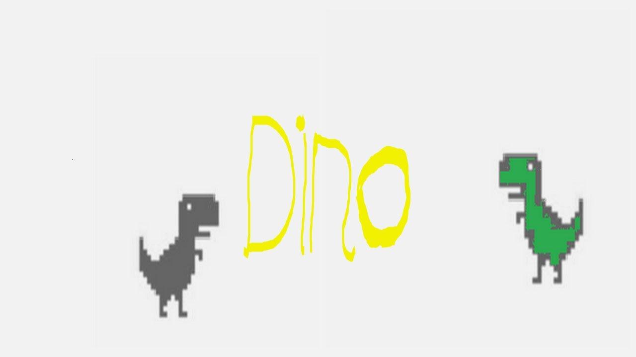 No internet chrome dino game - YouTube