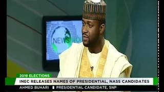 INEC releases names of Presidential, NASS Candidates