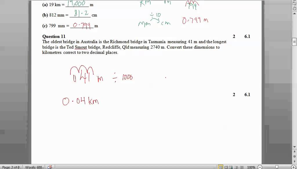 Yr 7 Maths - Measurement practice test - YouTube