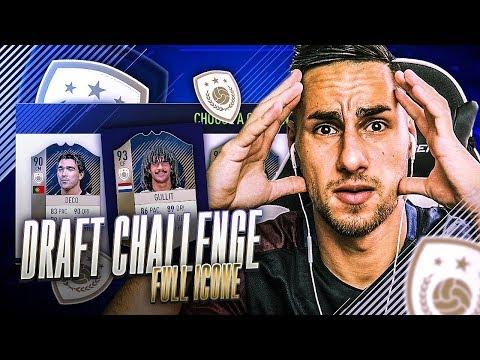 FIFA 18 DRAFT AVEC LE PLUS D' ICÔNE CHALLENGE - UN DEFI IMPOSSIBLE ?!