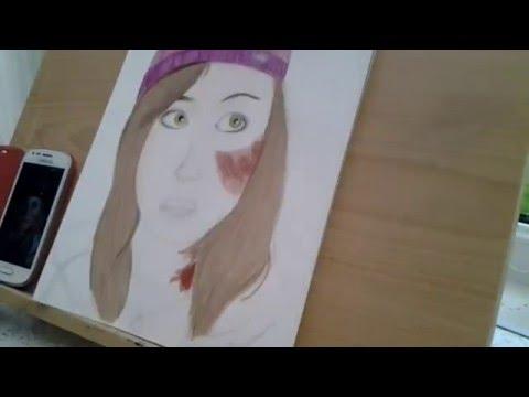Speed Drawing Ashley  Until Dawn Galadriel Stineman