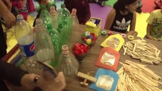 Segundo dia de férias no Museu cria brinquedos com material reciclável