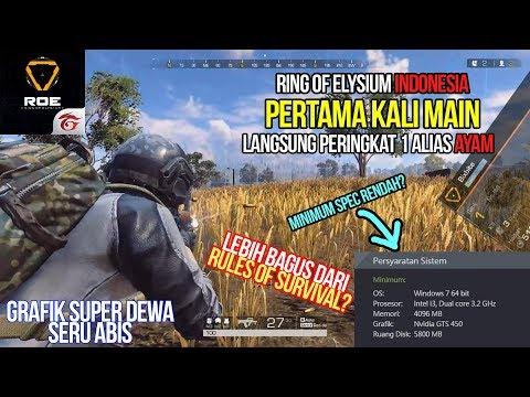 PERTAMA MAIN LANGSUNG AYAM! Grafik Dewa - Ring of Elysium Indonesia