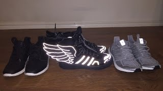 Adidas outlet shoe haul!! Ultra boost pure boost and Jeremy Scott 2.0 on feet review