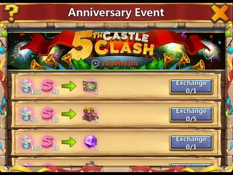 Castle Clash 5th Anniversary Reward's Collection 2018