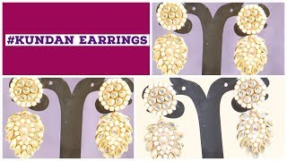 #DIY / Kundan Earrings for women