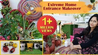 Home Entrance Makeover   Rental Friendly Decor Idea   Diy
