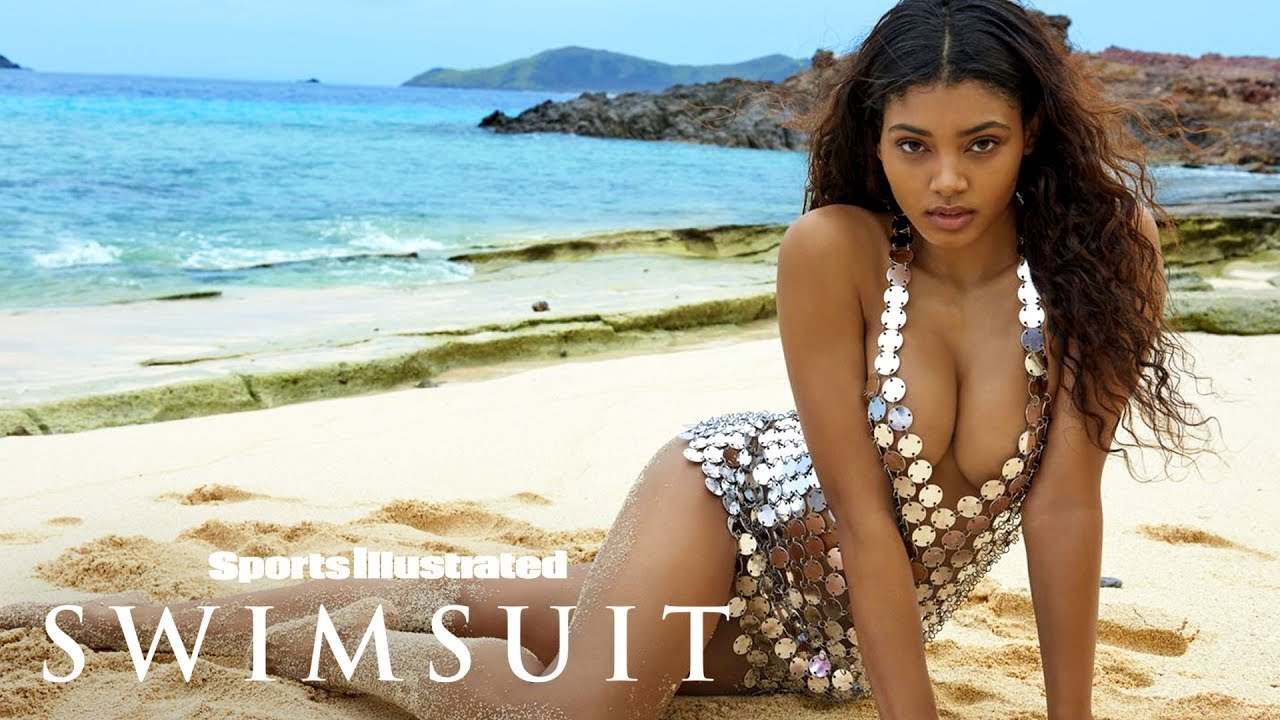 39927e53341e Danielle Herrington Shines Bright In A Revealing Metal Dress In Fiji |  Sports Illustrated Swimsuit