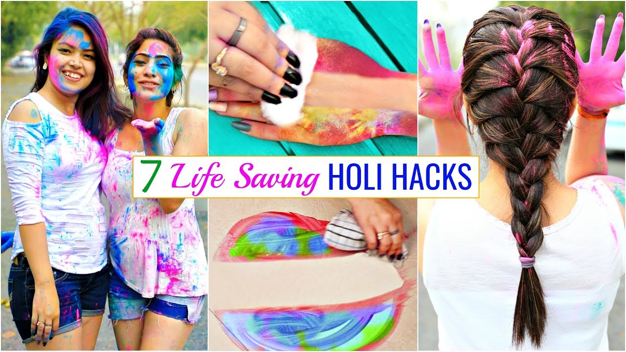 7 LIFE Saving HOLI Hacks You MUST Try | #Beauty #Haircare #Skincare # Anaysa