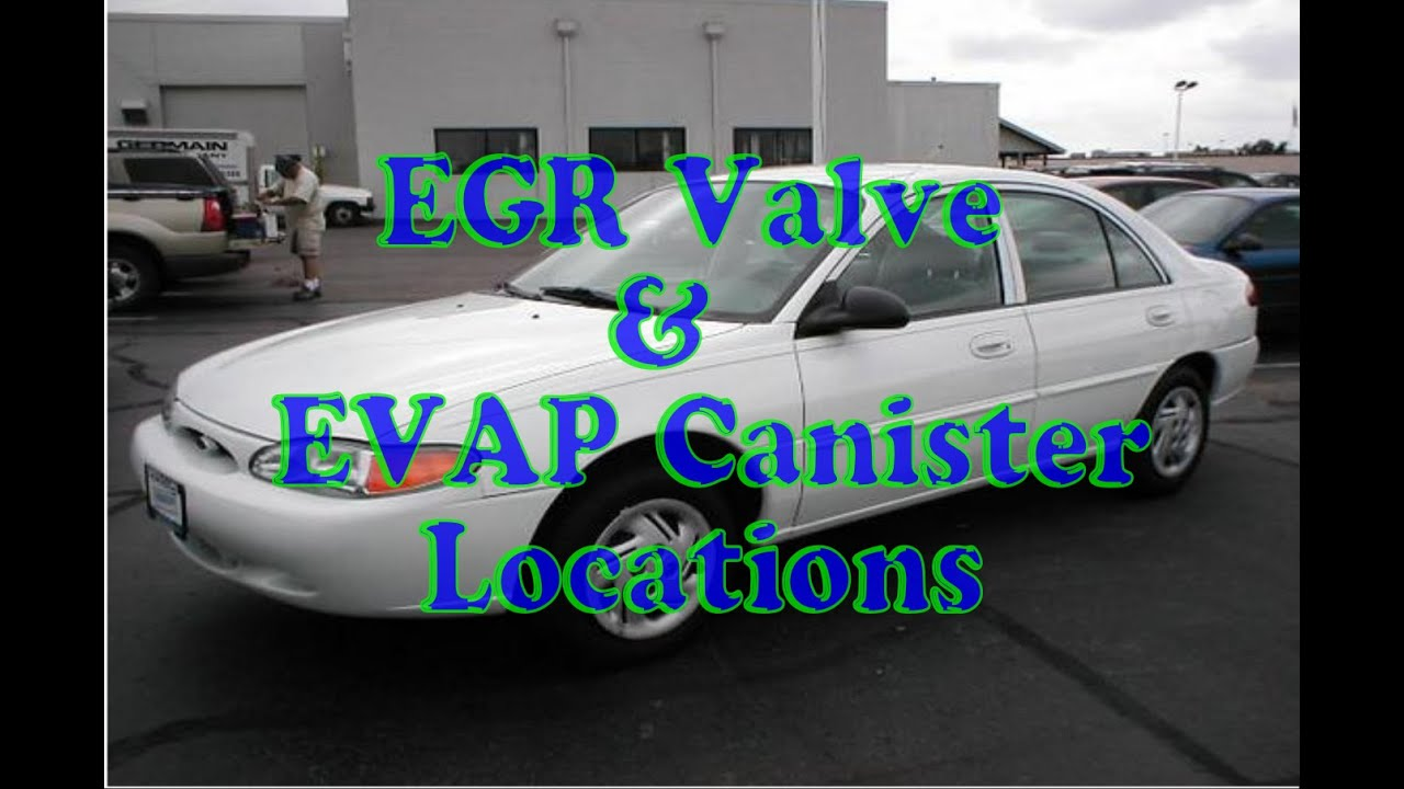 How To Find Egr Valve Amp Evap Canister On Ford Escort Youtube
