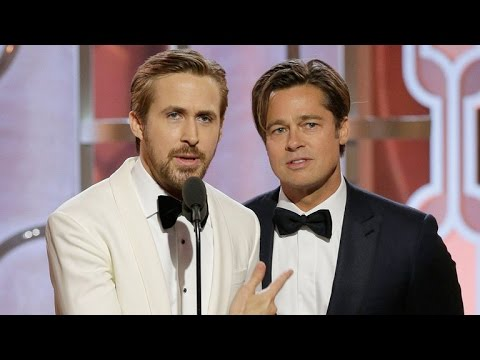 Thumbnail: Ryan Gosling Doesn't Like Playing Second Fiddle to Brad Pitt At The Golden Globes