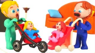 Kids Playing With Dolls ❤ Cartoons For Kids