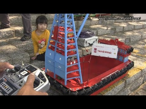 Hong Kong Unique RC Work Barge Boat (躉船) with Boat Builder Interview