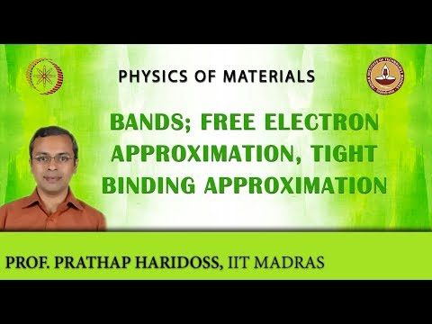 Mod-03 Lec-34 Bands; Free Electron Approximation, Tight Binding Approximation