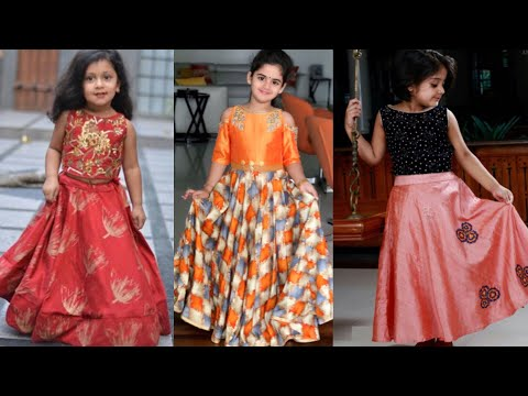 6ced6846f Kids crop top lehenge design ideas/traditional outfits ideas for girls/Indo  western outfits for girl - YouTube