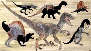 Wrong Heads Dinosaurs! Jurassic Park Volcano Blue Velociraptor T-Rex Toys Learn Dinosaur Names