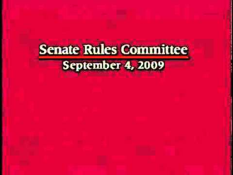 Senate Rules Committee 9/4/2009