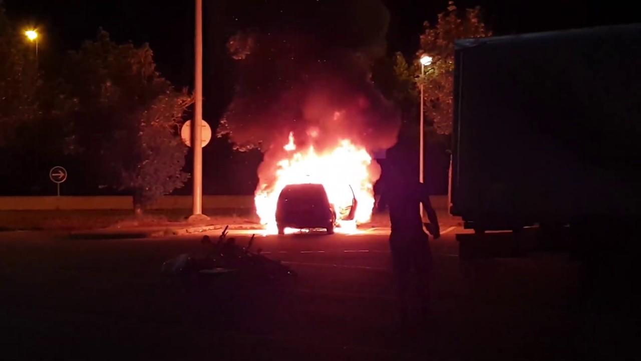 Машина сгорает за несколько минут!!!