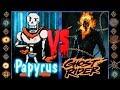 Papyrus (Undertale) vs Ghost Rider (Marvel Comics) - Ultimate Mugen Fight 2017