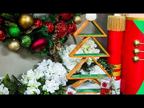 Diy Popsicle Stick Christmas Decor Home Family Youtube