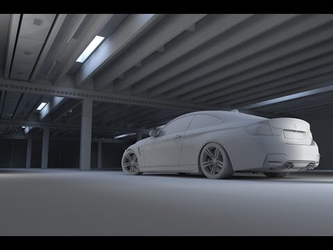 Automotive CGI - Modeling Parking Deck - 3D Studio Max