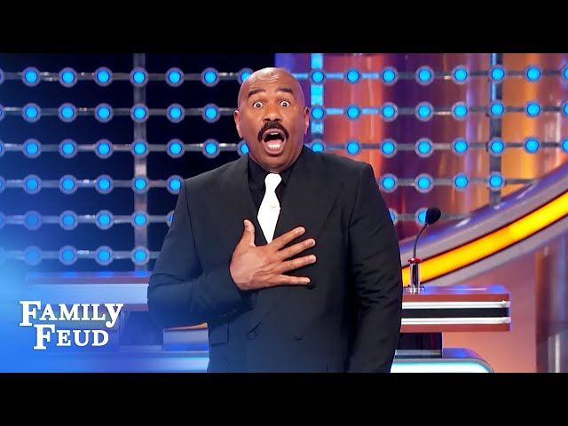 Check out the buns on that... burger! | Family Feud