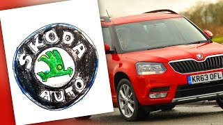 How to draw SKODA logo / AUTO LOGO car