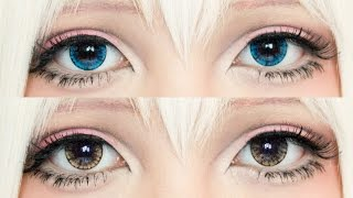 [REVIEW] EOS Ice Blue x Ice Brown Lenses | Pinkyparadise