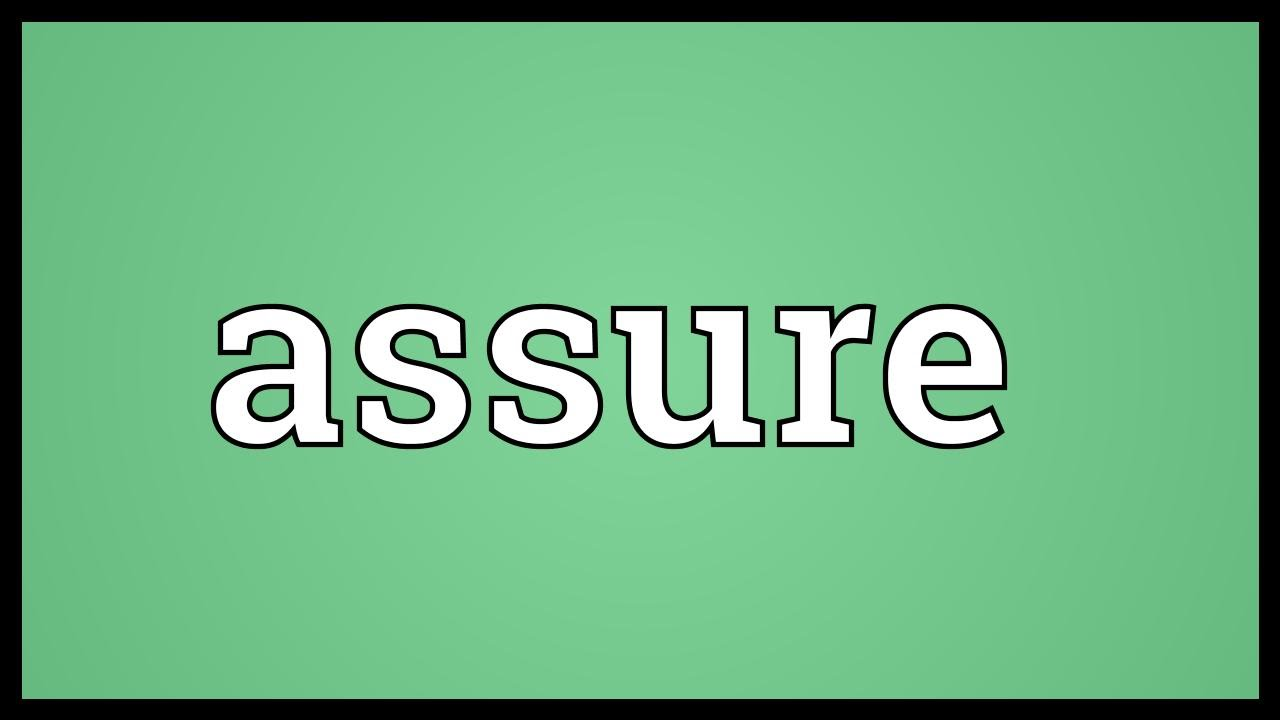 Assure Meaning