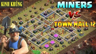 Miner vs TH12 war attack 3 star easy - The power of miner new update 2018