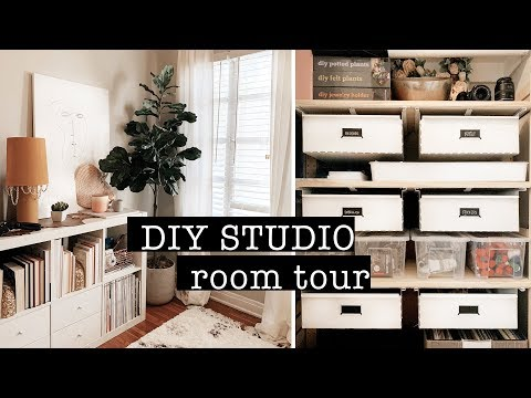 DIY STUDIO Room Tour & Organizing My DIY Supplies