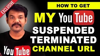 How to Get My Youtube suspended or Terminated Channel URL