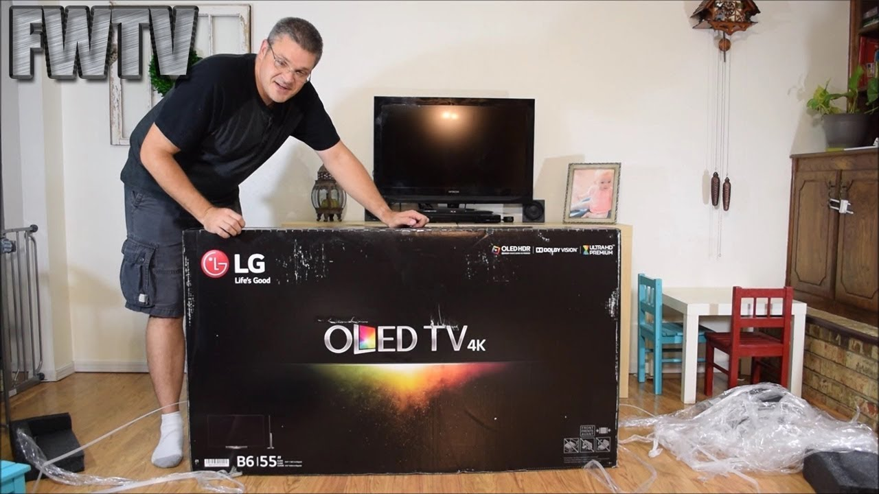 Lg Oled55b6p Oled Tv Unboxing Youtube