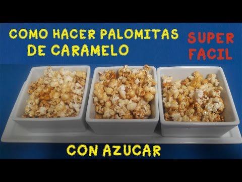 COMO HACER PALOMITAS de CARAMELO  CASERAS/ palomitas dulces  FACILES
