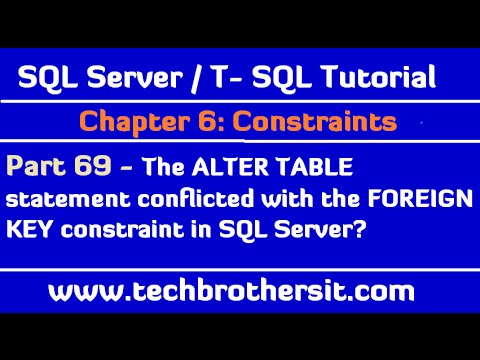 The alter table statement conflicted with the foreign key - Alter table sql server example ...