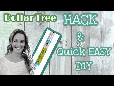 Dollar Tree HACK & EASY DIY | Dollar Tree Transparent Shelf Liner