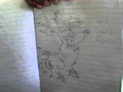 how to draw pokemon reshiram