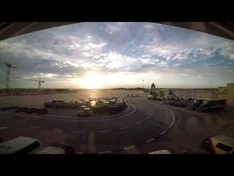 Hungary, Budapest, Airport Budapest Liszt Ferenc (BUD), Timelapse (HD)