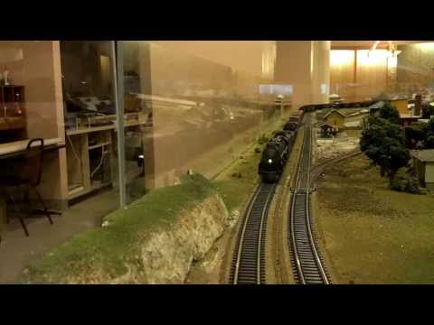 Norfolk and Western 1214 and 2087 doubleheaded with water tender's and coal part 1