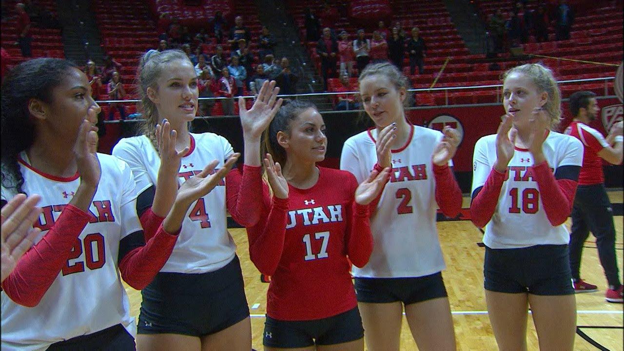 Recap: No. 16 Utah women's volleyball sweeps Cal - YouTube