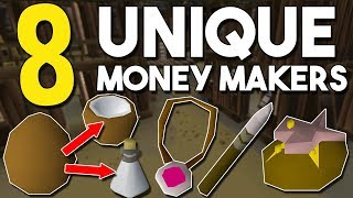 Top 8 Unique or Unknown Money Making Methods! Oldschool Runescape Money Making Guide! [OSRS]