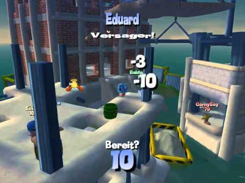 Wir Battlen: Worms 4 Mayhem[PC] {Battle 4} [1] Fallschirm! |