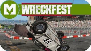 "Next Car Game: Wreckfest - ""Herbie"" Love Bug Mod, Figure 8 Course"