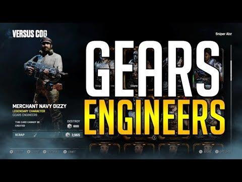 Gears of War 4 GEARS ENGINEERS PACK OPENING (MECHANIC BAIRD + MERCHANT NAVY DIZZY)