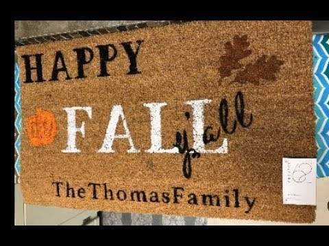 DIY Personalized Doormat using freezer paper and an Iron