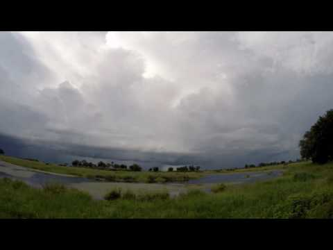 Storm time lapse of cyclone Dineo