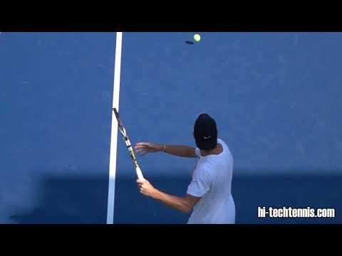 Adrian Mannarino Forehand Super Slow Motion