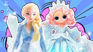 Куколки ЛОЛ OMG превратили Эльзу в Лели Кристал! За что? Что она им сделала?