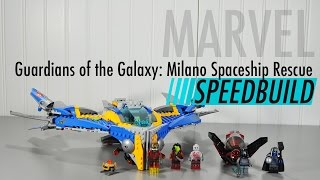 LEGO The Milano Spaceship Rescue Review Speed Build Time Lapse