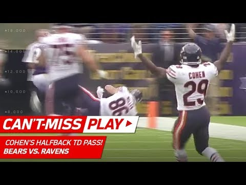 Tarik Cohen's Crazy Halfback Pass TD to Zach Miller! | 🚨 Trick Play Alert 🚨 | NFL Wk 6 Highlights